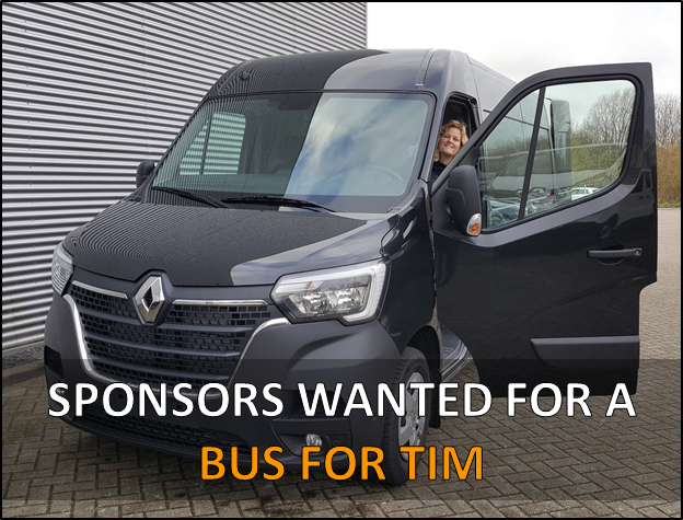 Sponsors wanted for a bus for Tim